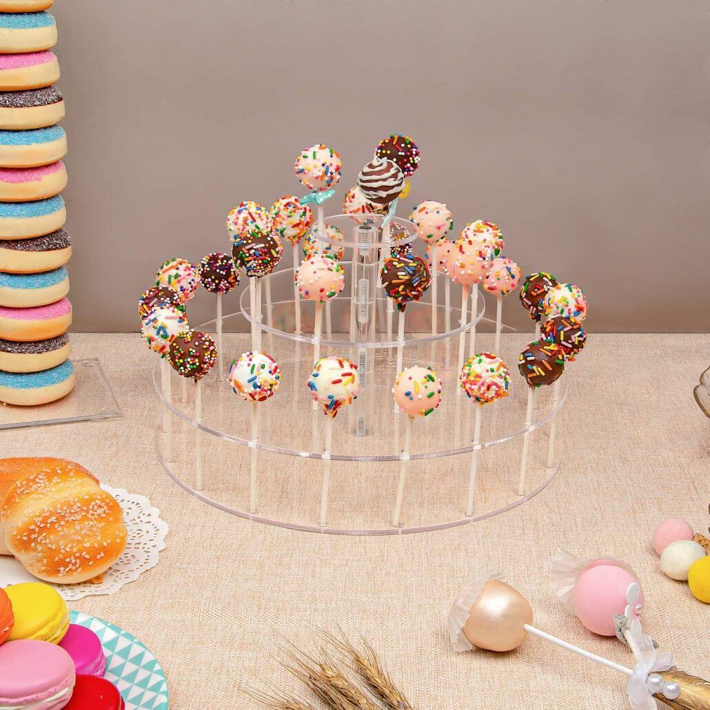 Acrylic Cake POP Stand 30 Holes Lollipop Holder