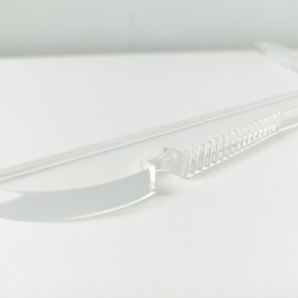 Acrylic Hanger With Slip-Proof Notched Arms 5