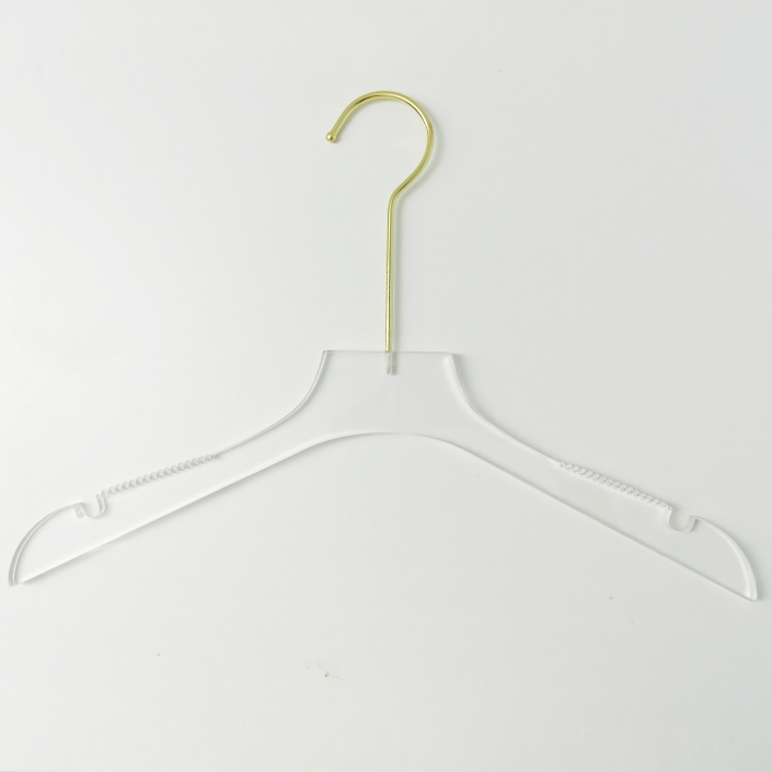 Acrylic Hanger With Slip-Proof Notched Arms