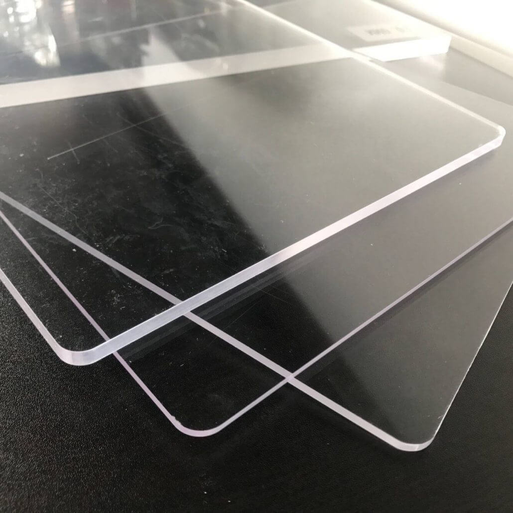 "0.04"" Thick PETG Sheet Plexiglass Panels 5x7"" Acrylic Boards"