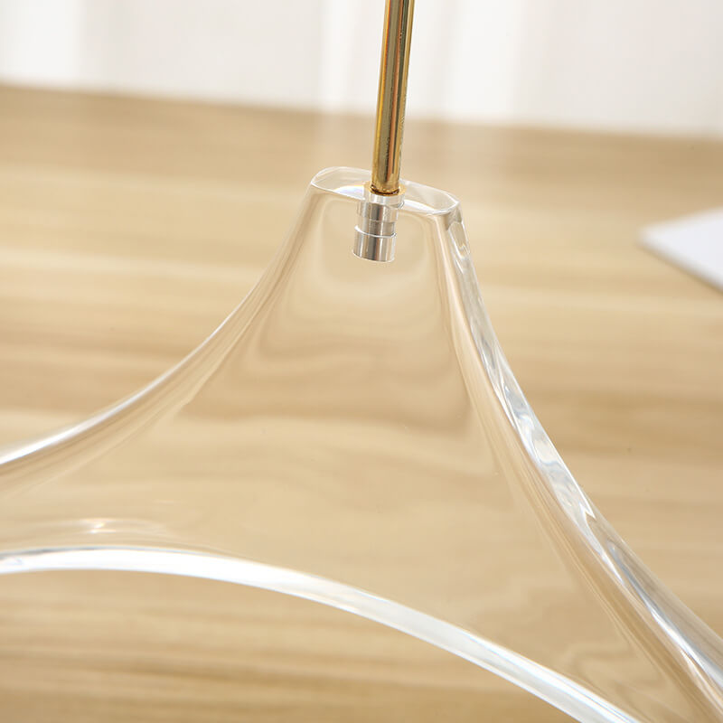 360 degree rotating hook of the clear cloth hanger
