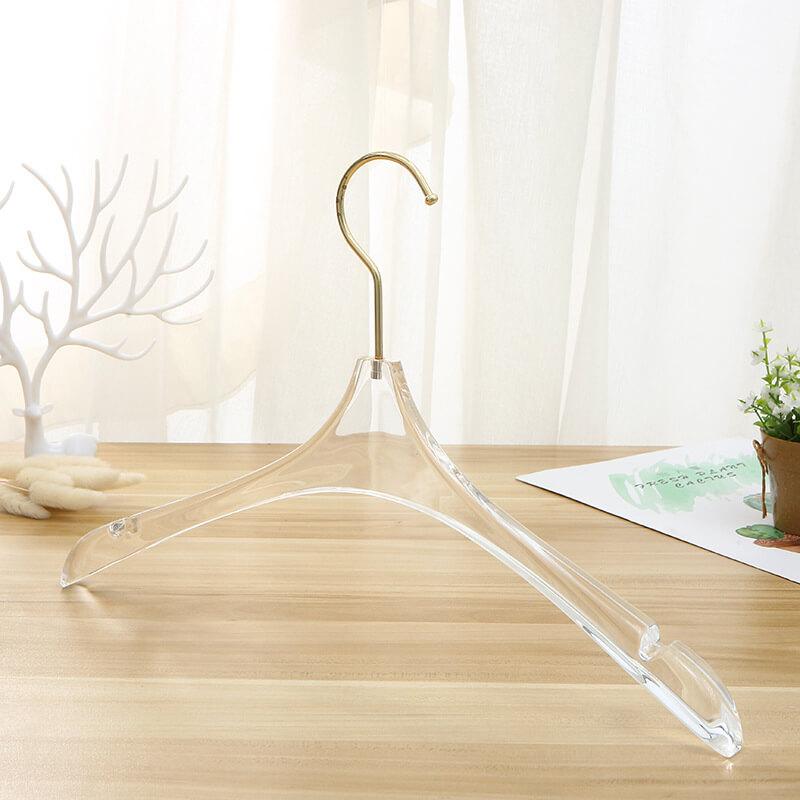 ACH17 Sharp-headed 23mm Thick Clear Cloth Hanger