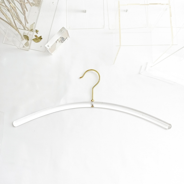 ACH18 Clear Acrylic Dress Hanger 18.9 inch Wide