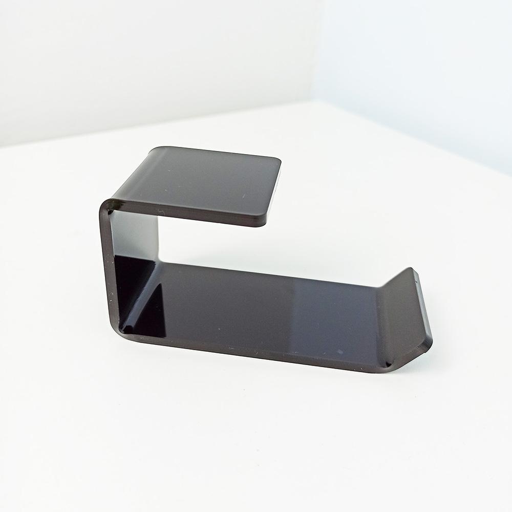 Adhesive 4x2x2 Wall Mount Acrylic Headphone Holder Hanger