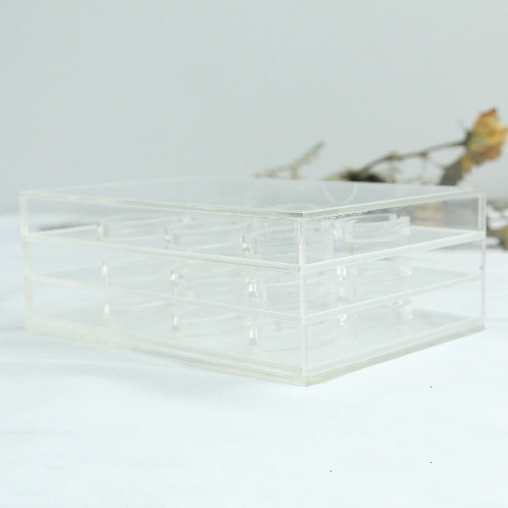 acrylic lashes box to display 18 pairs eyelashes