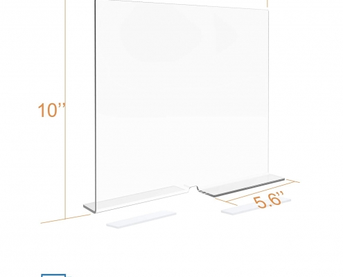 10x11.8 inches free-standing acrylic shelf divider