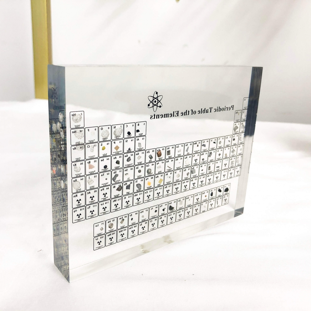 periodic table display with real elements factory