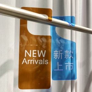 7x20 10x25 Acrylic New Arrival Promotion Hanging Signage