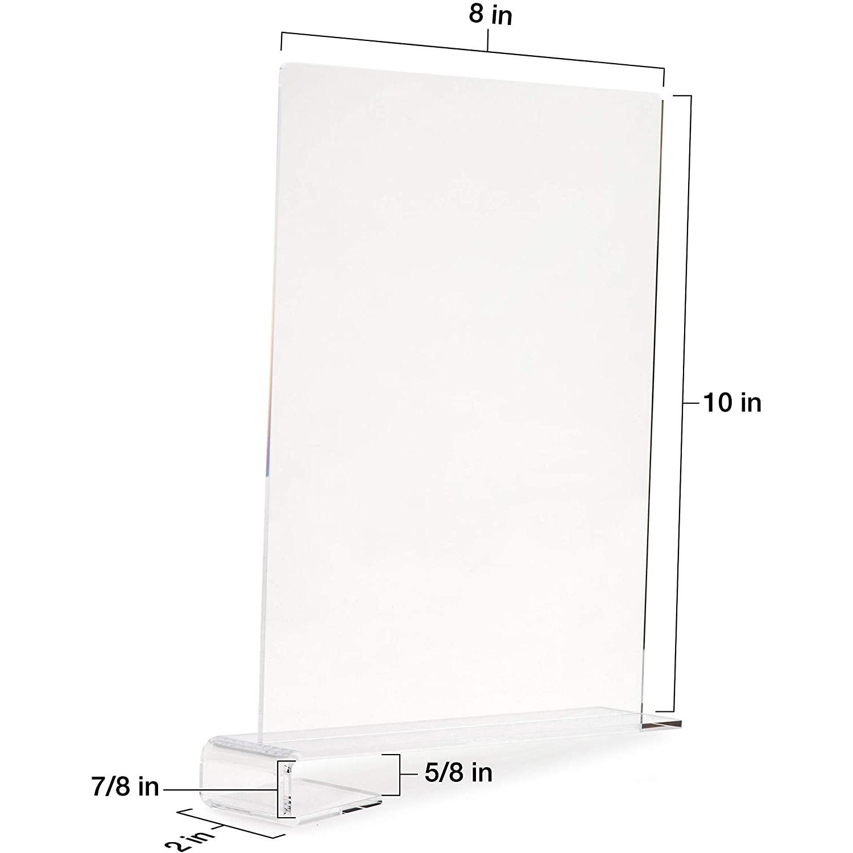 acrylic shelf divider 8 inch wide x 10 inch high acrylic shelf divider