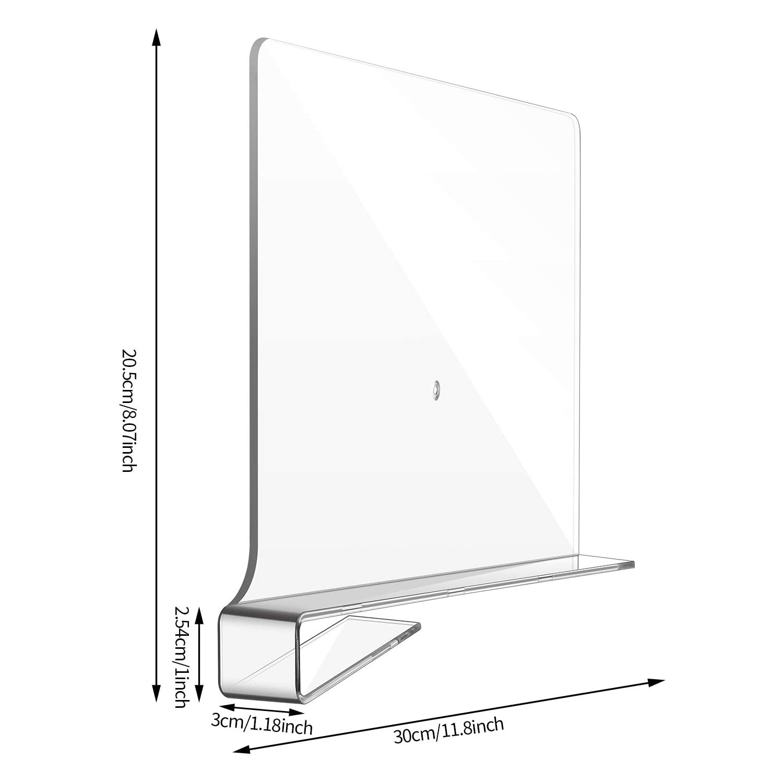 acrylic shelf divider 8.07x11.8 inches acrylic shelf divider
