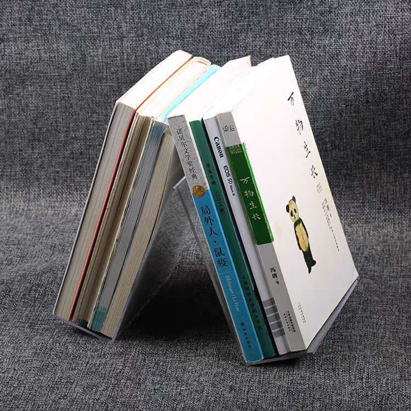 A shape acrylic display stands