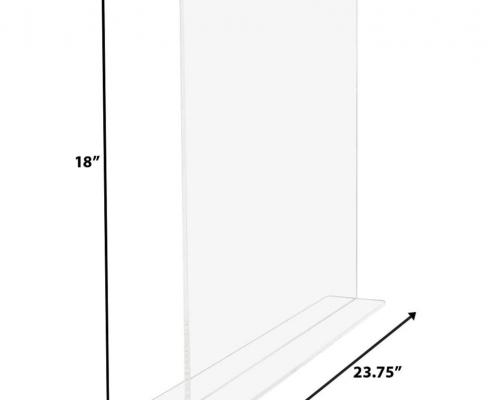 Acrylic shelf divider for big shelves