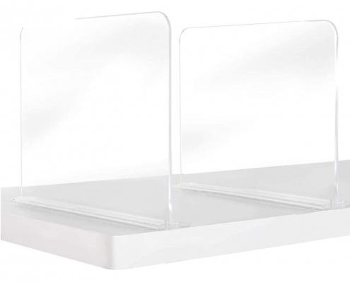 Acryllc tabletop divider sneeze guard splash-proof