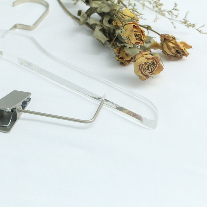 Clear Clothes Hangers With High Polished Round Edges