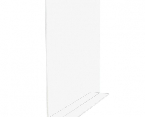 Clear acrylic shelf divider for bedroom bathroom and living room
