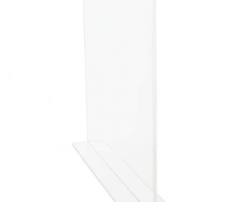 Invisible acrylic shelf divider