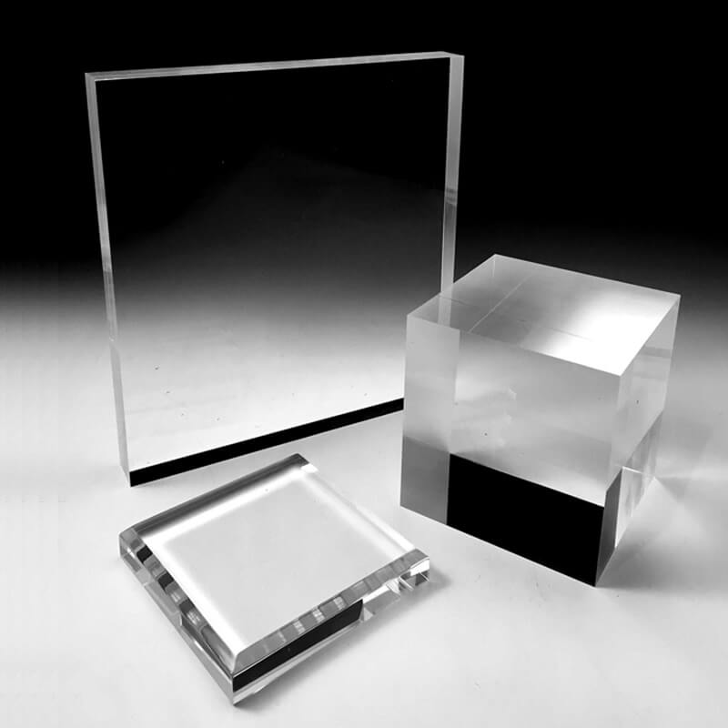 acrylic block display stand risers
