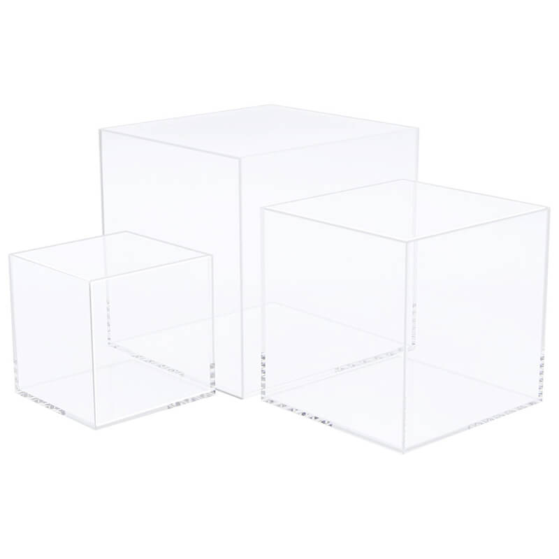 acrylic cube display riser stand