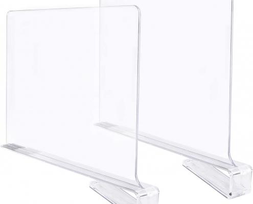 acrylic shelf divider clothes organizer