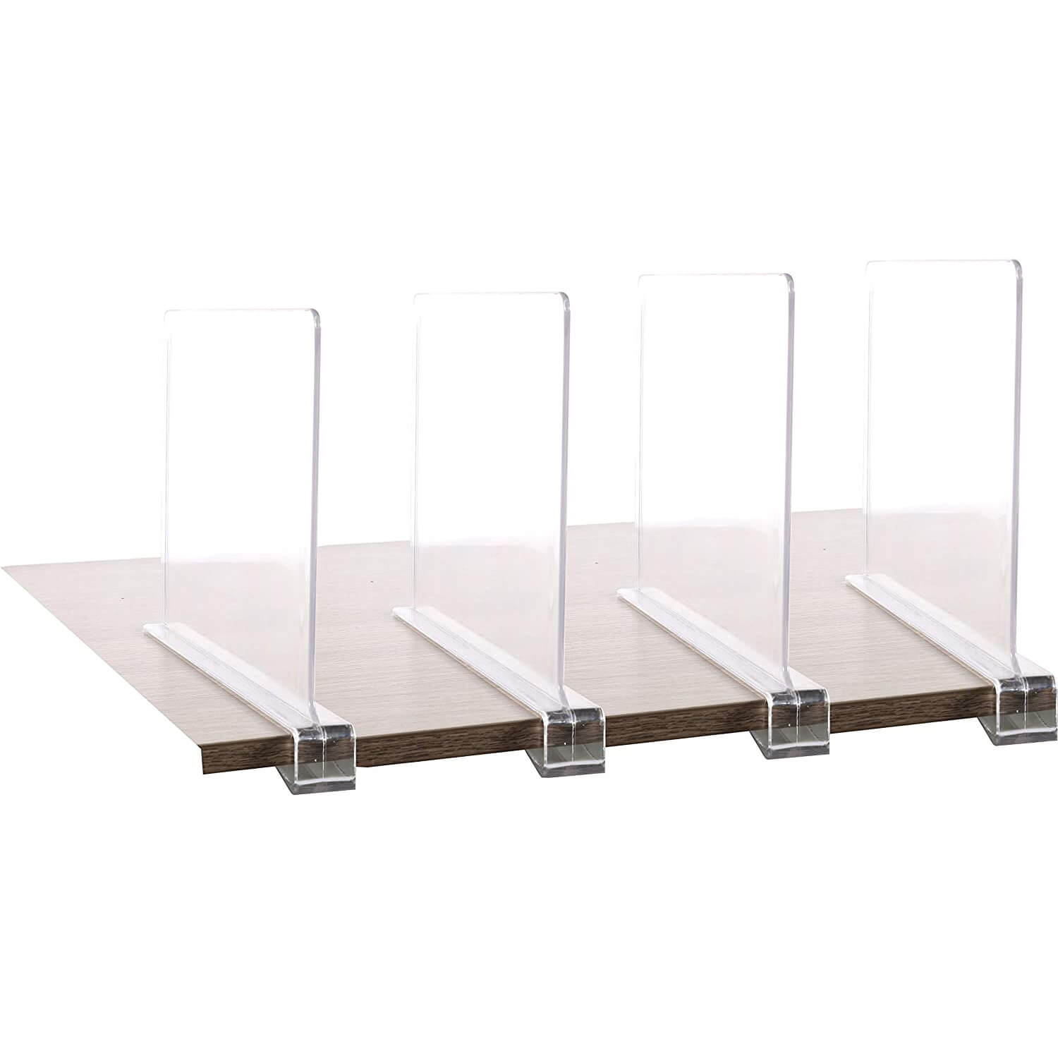 acrylic shelf divider easy installing