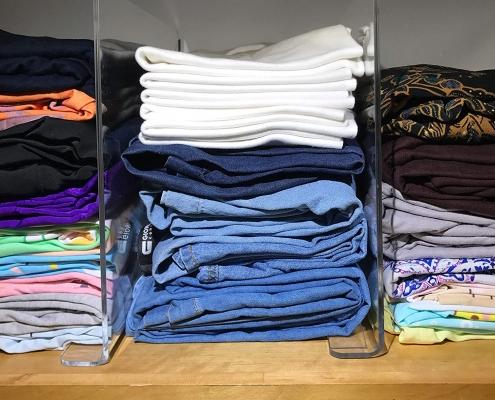 acrylic shelf divider for clothes