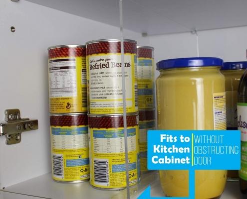 acrylic shelf divider for kitchen