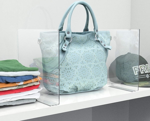 acrylic shelf divider for purse