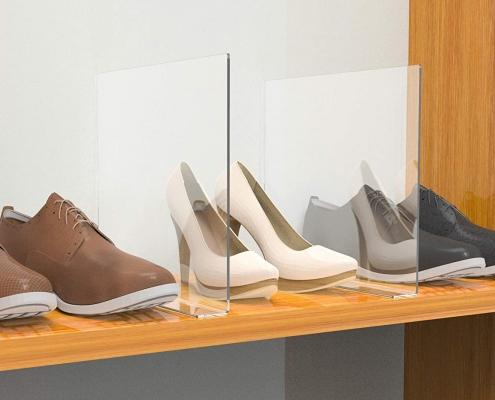 acrylic shelf divider acrylic shelf dividers for shoes