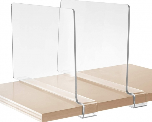 acrylic shelf divider buy bulk acrylic shelf divider clear stand with clip