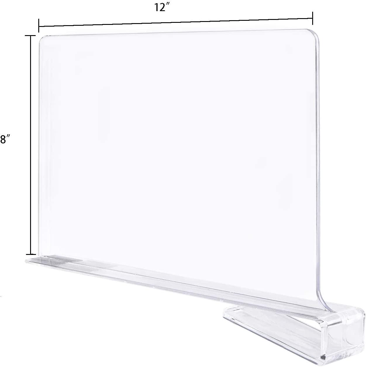 clear acrylic shelf divider closet separator