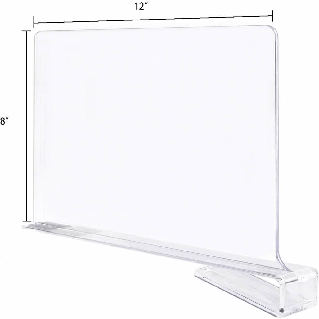 clear acrylic shelf divider closet separator