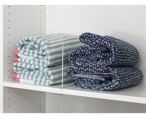 clear acrylic shelf dividers for clothes