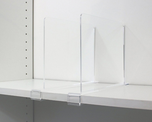 acrylic shelf divider free standing acrylic shelf divider with clip for the shelves