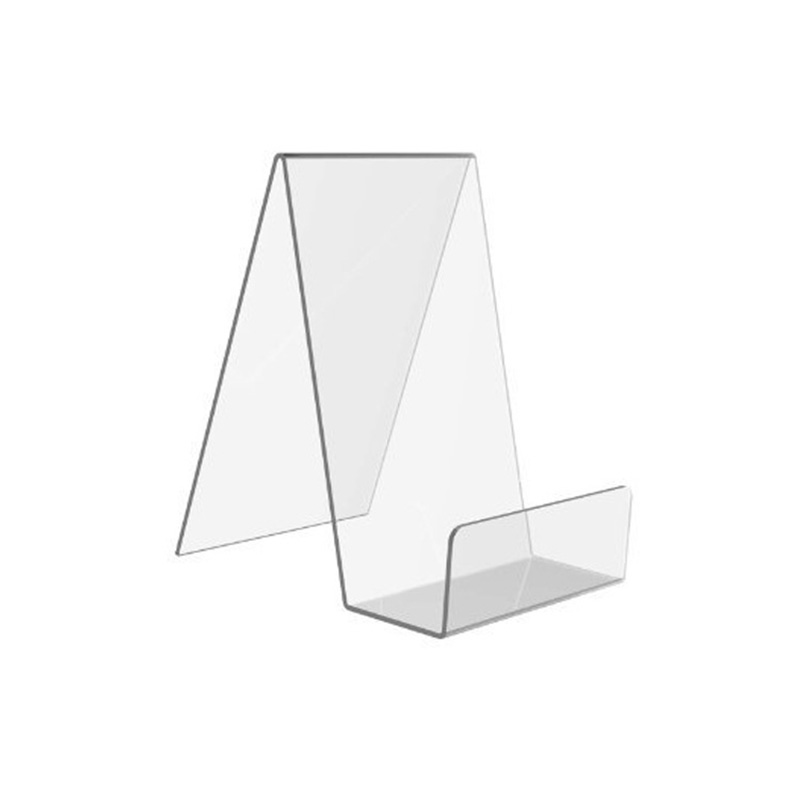 j shape acrylic display stand