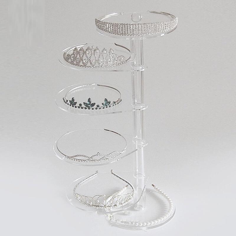 revolving acrylic display stand jewelry display
