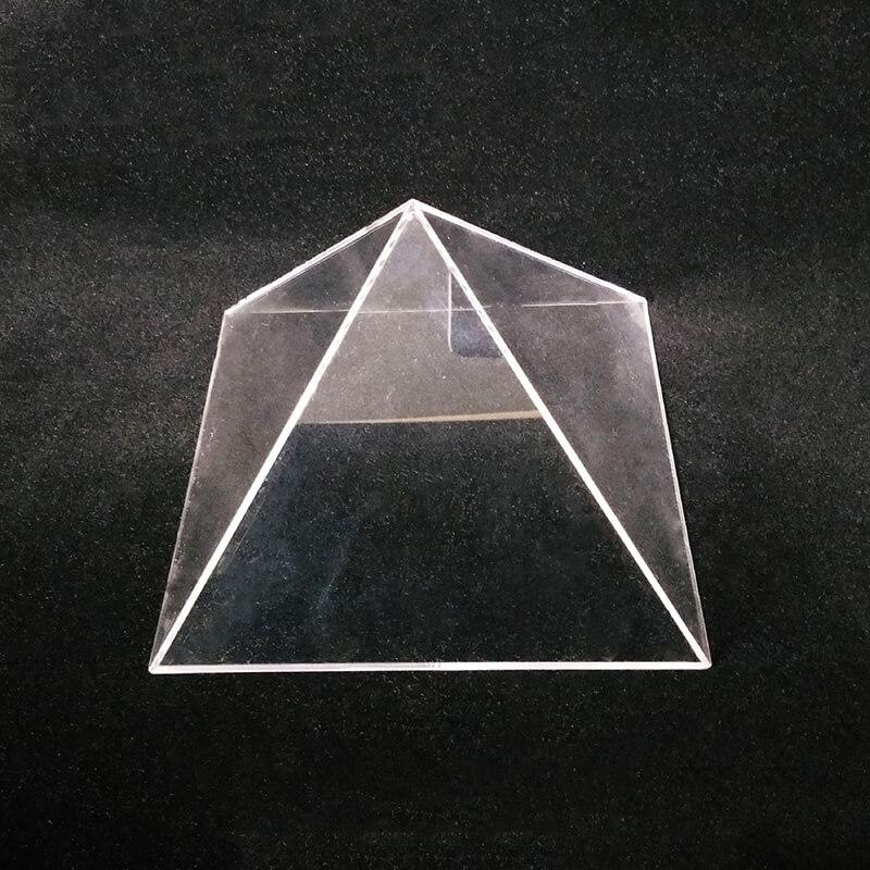 triangle acrylic display showcase stand