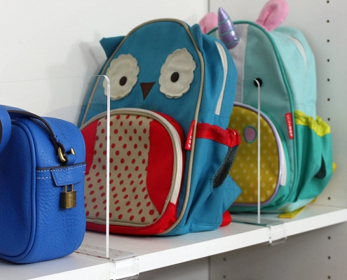 wholesale acrylic shelf dividers for purses