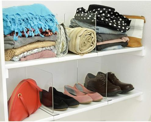 wholesale acrylic shelf dividers for wood shelves