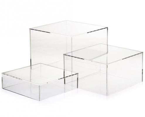 acrylic 5 sided box pespex block wholesale