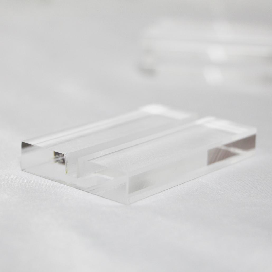 acrylic block sign holder base