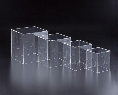 acrylic cube box clear display cube