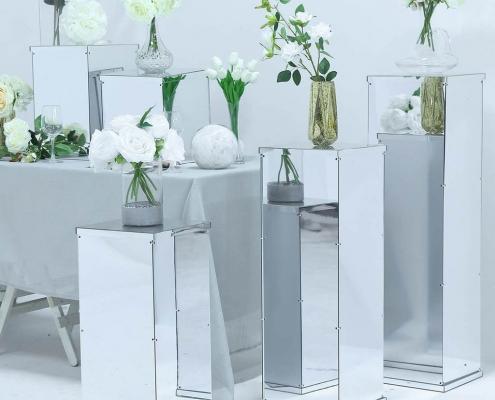 acrylic cubes wedding pedestal risers