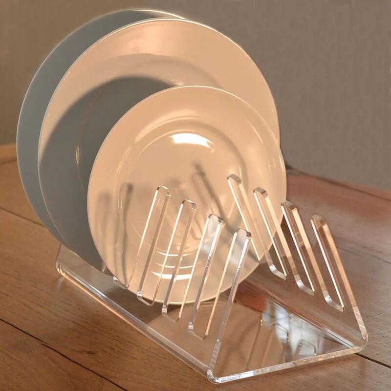 clear acrylic plate holders