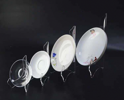acrylic display stands for plates in different sizes