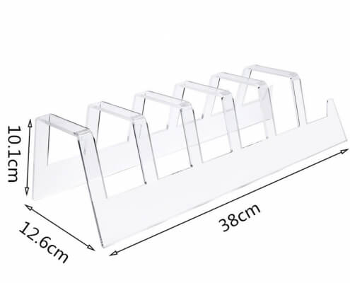 acrylic display stands for plates acrylic easel plate stands