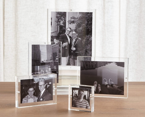 acrylic photo block magnetic picture frame