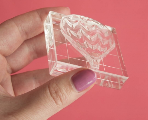acrylic stamp block easy to handle with