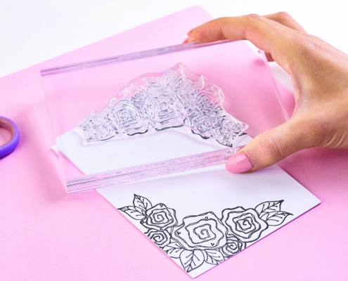 acrylic stamp block with handle