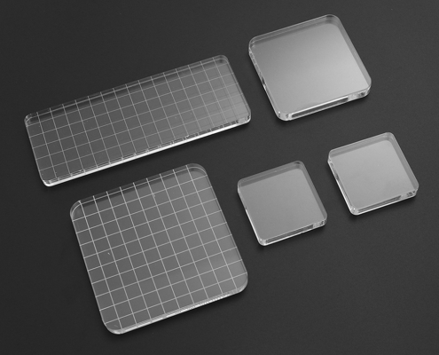 acrylic stamp blocks with and without grid
