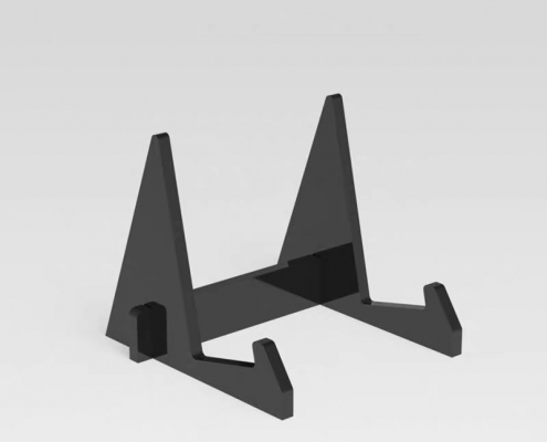 black acrylic display stands for plates